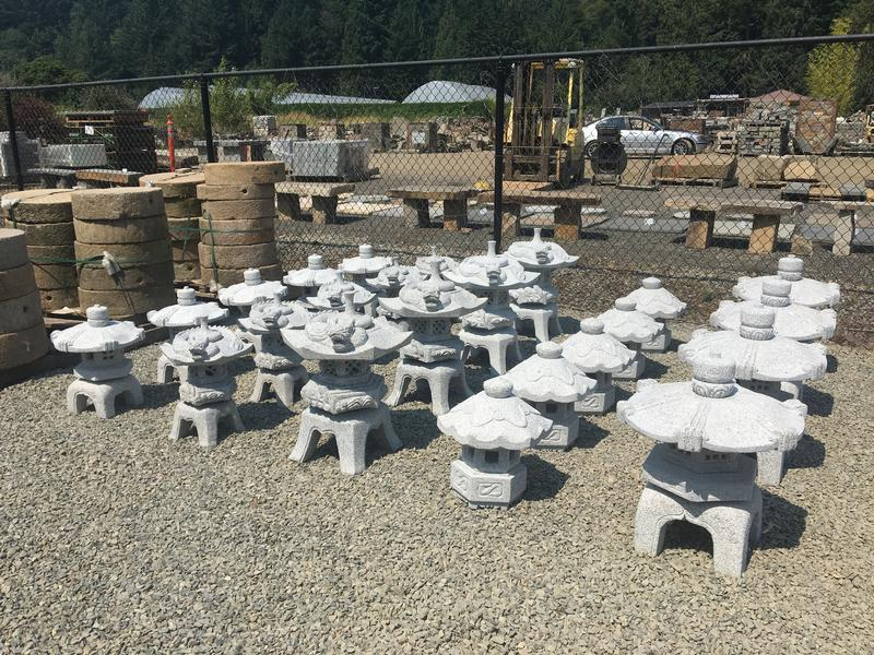 Carved Granite Lanterns