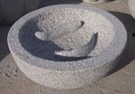 Granite Koi Bird Bath