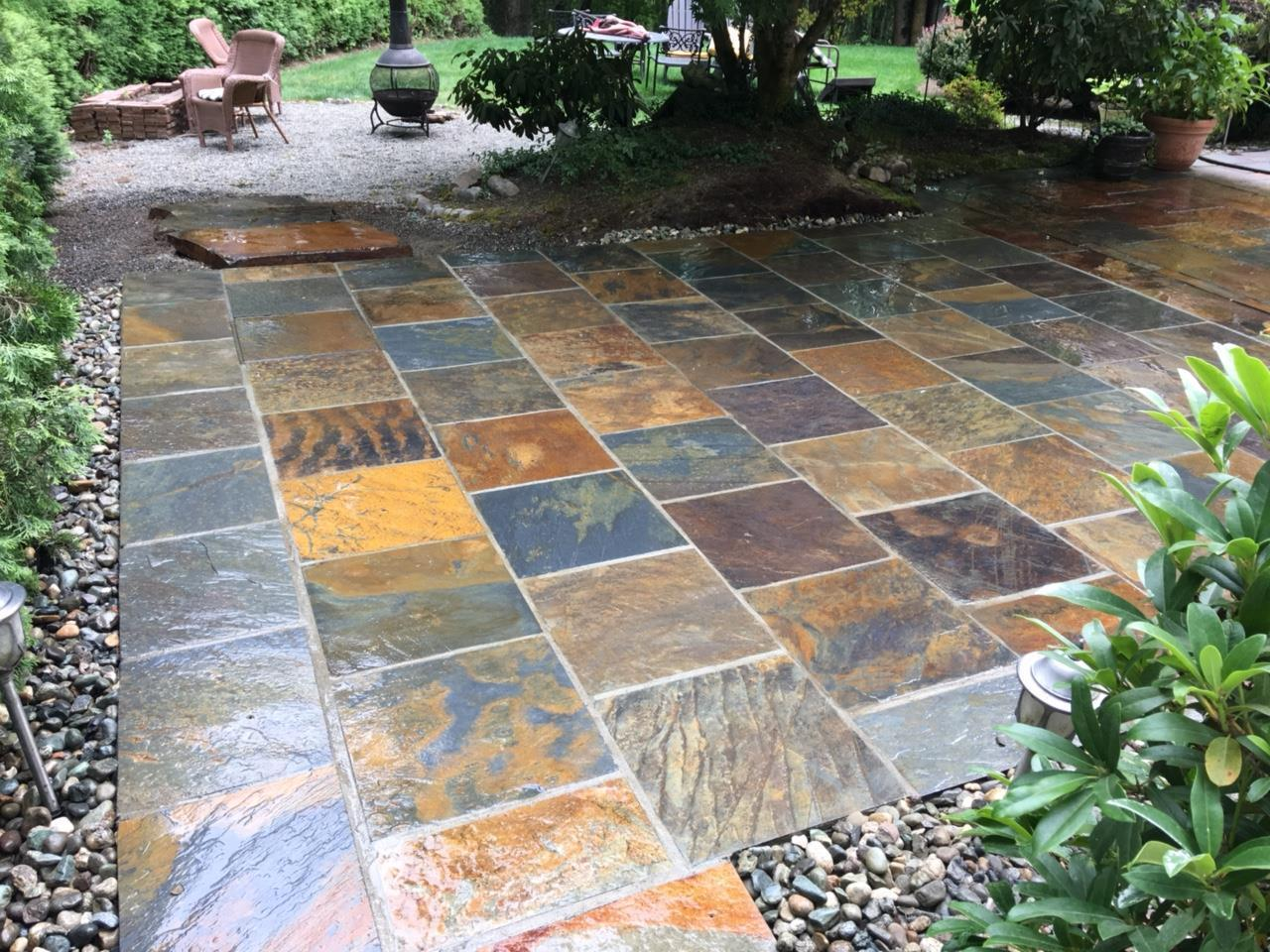 Rustic Slate Pavers (straight cut)