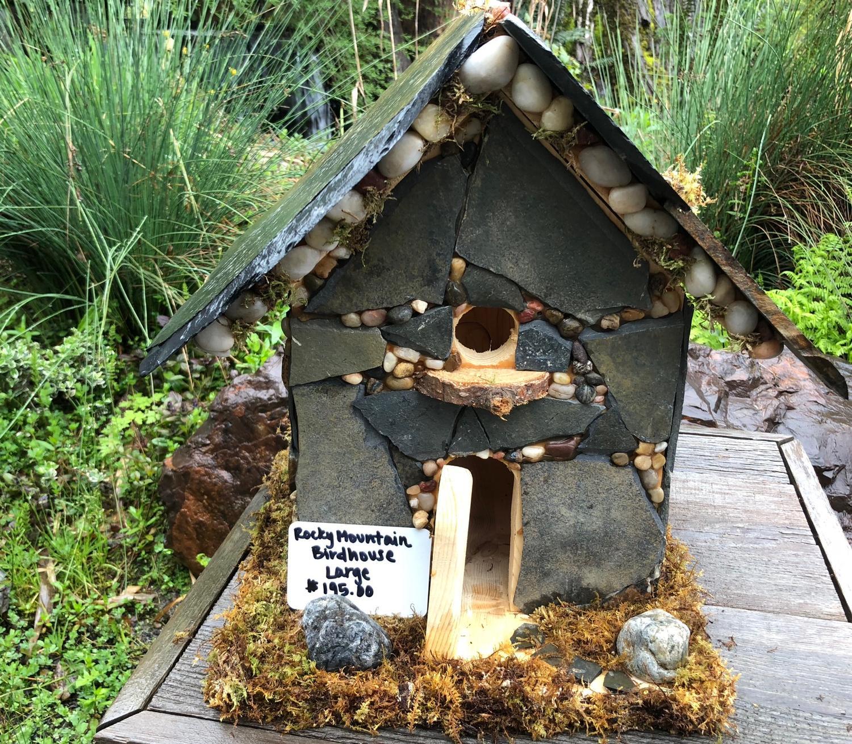 Custom Stone Birdhouses