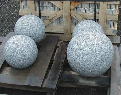 Grey Granite Orbs (Solid or Drilled)
